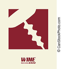 wine design over  white background vector illustration