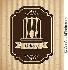 kitchen design over lineal background vector illustration