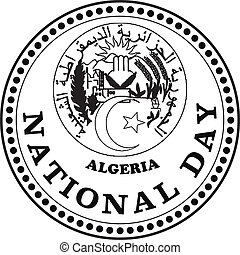 National day Algeria - Stamp mark the National Day of...