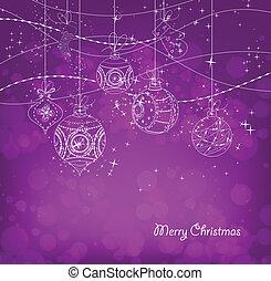 purple Christmas Background