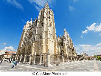 Leon Cathedral, Castilla y Leon, Spain.