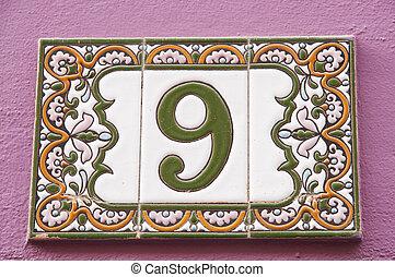 nueve, número