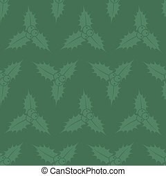 Christmas pattern - Seamless green christmas pattern with...