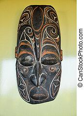 Tipico, legno, faccia, maschera