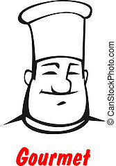 Cartoon smiling friendly chef