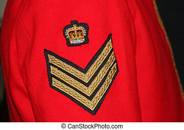 Military uniform - Uniformed arm of a UK Military Staff...