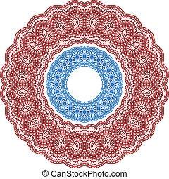 Circle vignette lace ornaments set