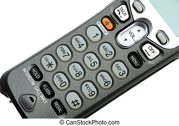 phone keypad close-up ,isolated on white background