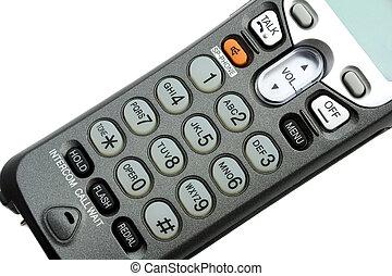 phone keypad close-up ,isolated on white background