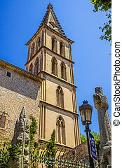 Sant Bartomeu church - The Sant Bartomeu church in Soller on...