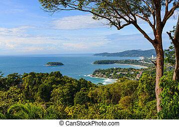 Kata, Karon, Patong View Point, Phuket , South of Thailand