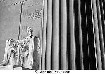 Lincoln,  Washington,  memorial,  DC