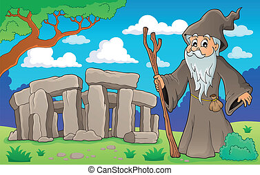Druid theme image 2 - eps10 vector illustration