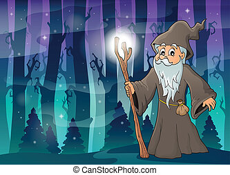 Druid theme image 4 - eps10 vector illustration.