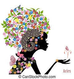 Zodiac sign aries fashion girl