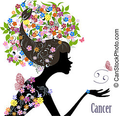 Zodiac sign cancer fashion girl