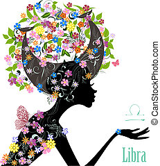 Zodiac sign libra. fashion girl
