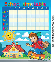 School timetable composition 7 - eps10 vector illustration