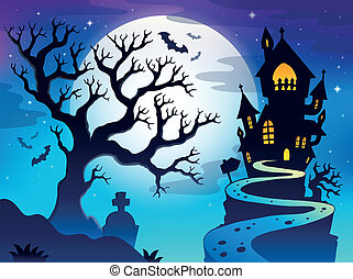 Spooky tree theme image 7 - eps10 vector illustration