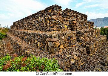 Guimar Pyramids - Ancient Guanche Guimar Pyramids in...