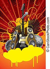 Disco banner - Vector disco banner