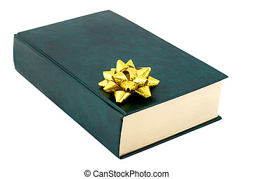 book gift , close-up isolated on white background