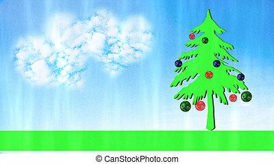 ライト, 星, クリスマス, 背景
