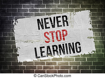 never stop learning - poster concept