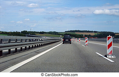 interstate scenery in germany - highway scenery on a highway...
