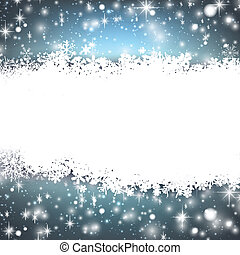Christmas blue abstract background - Blue winter abstract...