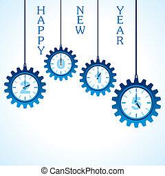 skapande, lycklig, färsk, år, 2015, design