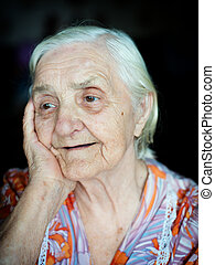 Portrait of a grandmother - Portrait of a cheerful...