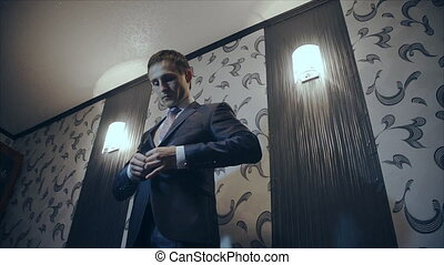 man dressed before a business meeting - Businessman,...