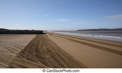 Weston-super-Mare beach Somerset - View towards Uphill