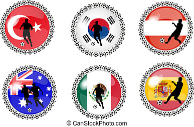 set of soccer buttons 4