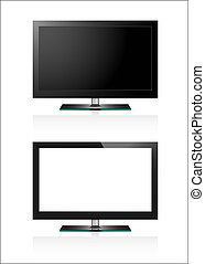Two TV flat screen lcd. Vector EPS10