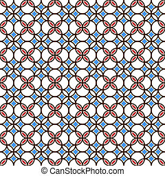 Colored seamless geometric pattern