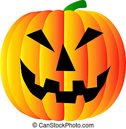 pumpkin on white background - halloween pumpkin on white...