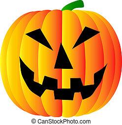 pumpkin on white background - halloween pumpkin on white...