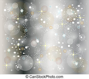 silver christmas background with stars