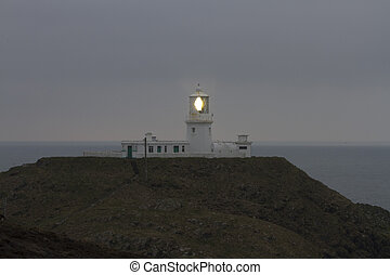 Strumble Head Lighthouse - Light house on Strumble Head,...