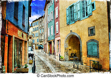 Old Town, image 1 - A series of images Old Town, in grunge...