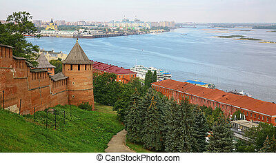 Nizhny Novgorod Kremlin in autumn morning
