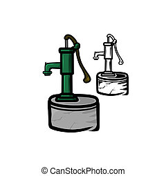 Water Pump - Vector illustration : Water Pump on a white...
