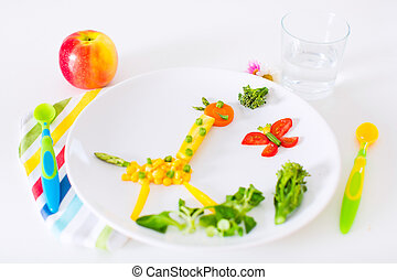 Healthy lunch for kids - Healthy vegetarian lunch for little...