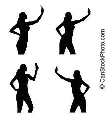 Selfie girl sillhouette - Trend selfie girl sillhouette as...