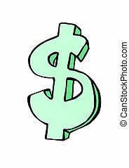 doodle symbol currency dollar