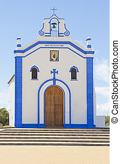 Small church in Ayamonte, Huelva Spain - Close-up of a...
