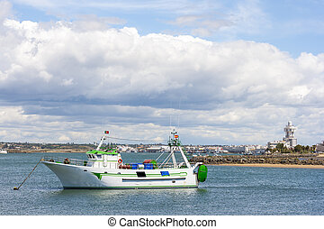Fishing boat in Guadiana - Fishing-boat in the Guadiana...