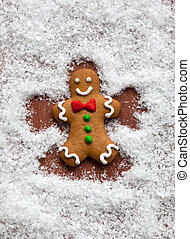 Gingerbread Snow Angel - Gingerbread Man Snow Angel